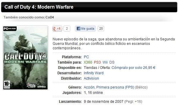 [Mi Subida] Call of Duty 4: Modern Warfare [Full/Español/PL