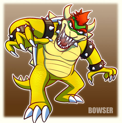 Artworks de mario,luigi y bowser