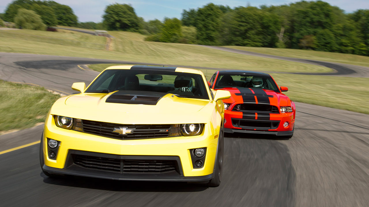 2013 Ford Mustang Shelby Gt500 Vs 2012 Chevrolet Camaro