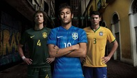 BRASIL 2014 COPA MUNDIAL HOME AND AWAY KITS LIBERADAS