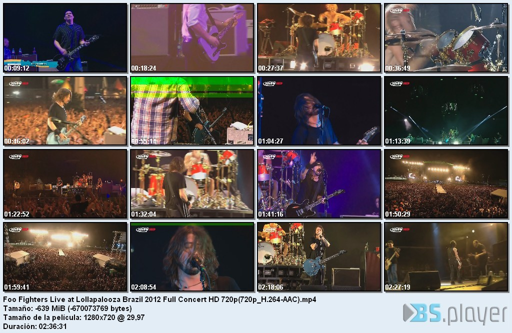 Recitales de Rock en HD y Dvd Full