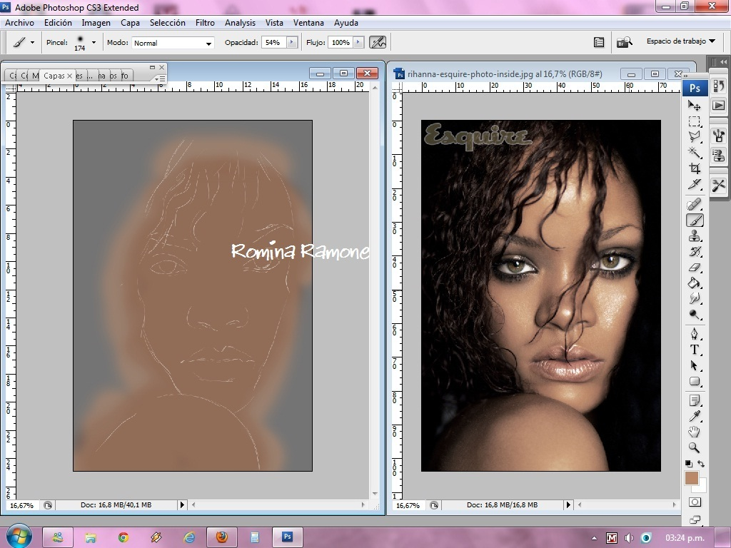 Rihanna- hecho con tableta en PS