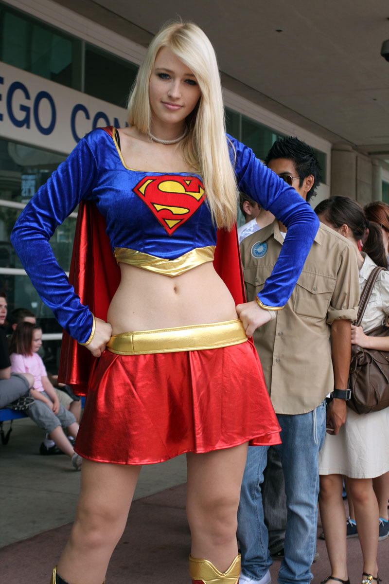 Something is. Sexy cosplay supergirl hot