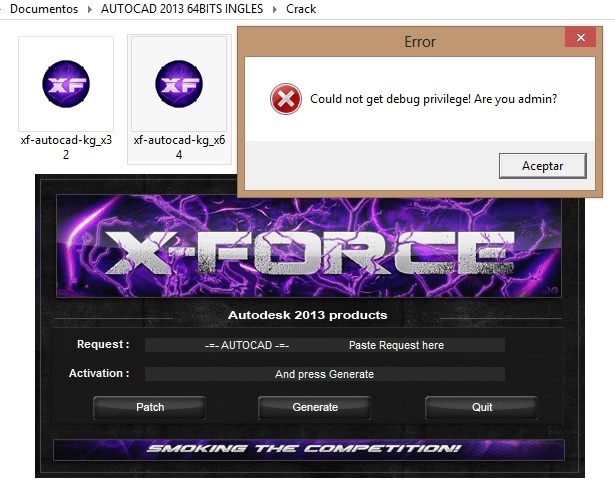 how to run xforce keygen as administrator