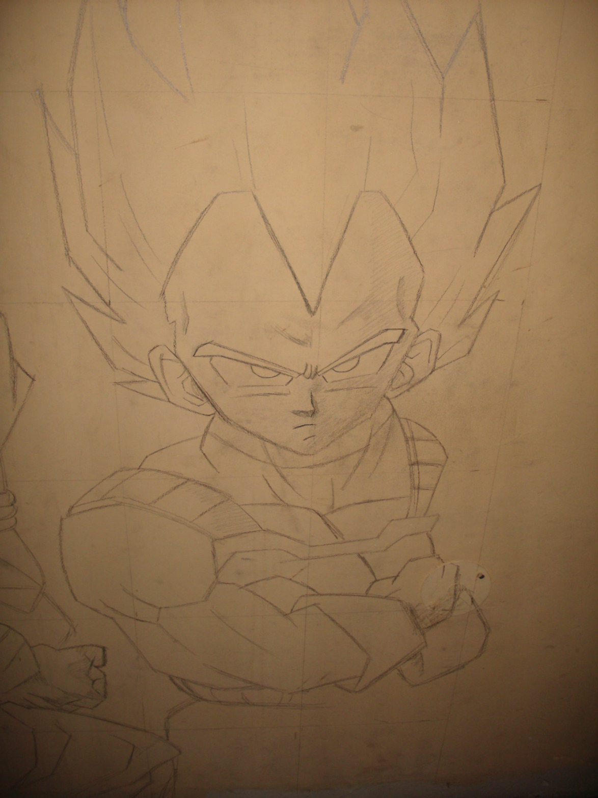 Mural los guerreros z dragon ball z part 1 im genes for Dragon ball z mural